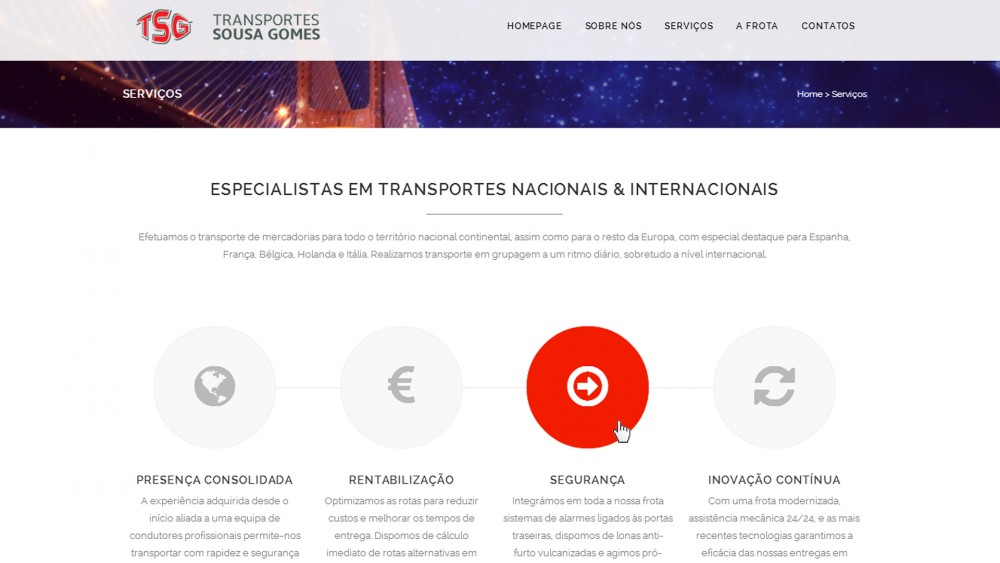 Transportes Sousa Gomes - Website
